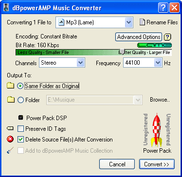 convert lossless to wav