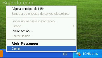 cerrar windows live messenger