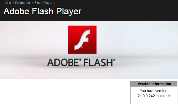 adobe flash actualizado