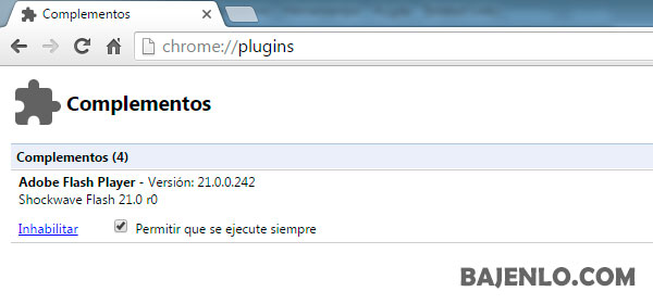adobe flash chrome on