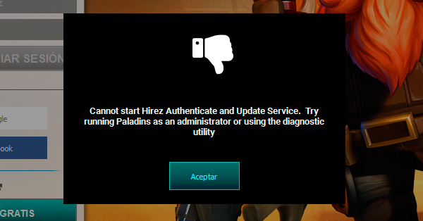 Paladins Cannot start Hirez Authenticate and Update Service