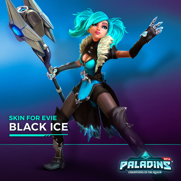 Set Black Ice (Hielo Negro) de Evie